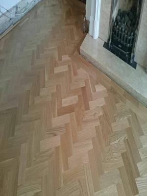 WOOD BLOCK HERRINGBONE SUPPLIED AND INSTALLED BY CARPET STYLE NORTHWOOD AND WATFORD IN GOLDERS GREEN