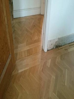 herringbone parquet supplied and installed in golders green by carpet style watford