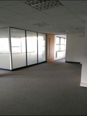 carpet tiles by distincive flooring suplied and installed into two offices and lobby in harrow on the hill