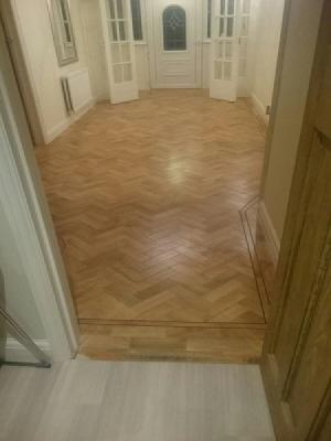 Karndean arty select blonde oak parquet herringbone supplied and fitted by carpetstyle northwood hills