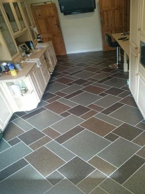 Amtico signature fragment comet, fragment meteor, fragment astro laid in a kitchen & utility room in Watford supplied and installed by carpet style