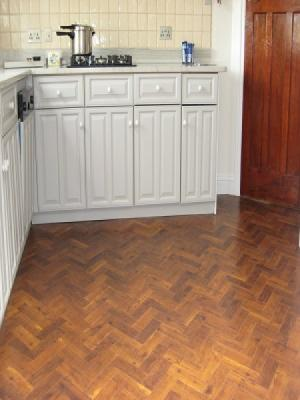 amtico supplied and installed by carpet style Northwood Hills and Watford. Amtico signature priory oak laid in a herringbone design.