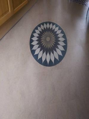 Amtico signature lotus motif supplied and installed by carpet style