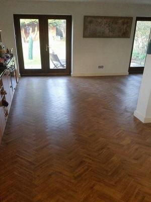 amtico signature using the parquet design, supplied and installed by a premium retailer and approved fitters.