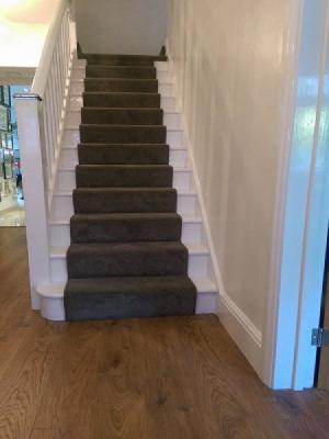 stair runner made with victorias soft touch, suppled and installed by carpet style in uxbridge